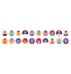 flat modern minimal avatar icons business concept vector image