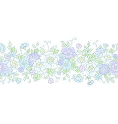 floral wedding border vector image