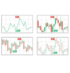Four types of business charts vector image