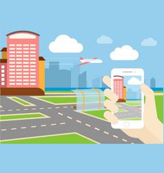gps game mobile application design vector image