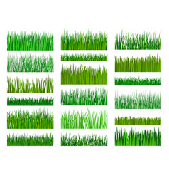 Grass border horizontal seamless pattern vector