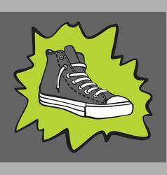 Gray sneaker shoe with a splash vector