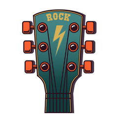 guitar head isolated on white background design vector image