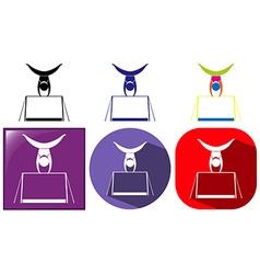 Gymnastics icon in three design vector