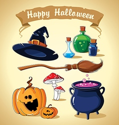 Halloween set vector