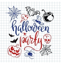 Happy halloween icons set vector image
