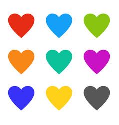 heart love multicolor wedding symbols hearts vector image