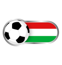 hungary soccer icon vector image