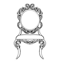 Imperial baroque round chair in luxurious vector