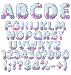 inflatable alphabet letters numbers with balls vector image