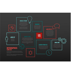 Infographic template with blocks vector