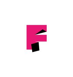 letter f logo design template elements paper vector image