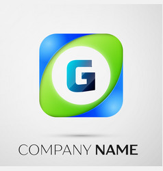 Letter g logo symbol in the colorful square vector
