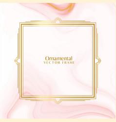 lovely ornamental decorative golden frame vector image