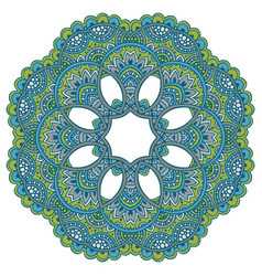 Mandala pattern of henna floral elements vector