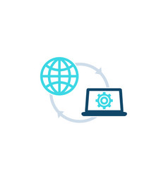 network configuration settings icon vector image