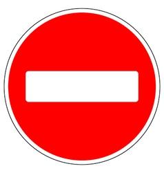 No entry road sign vector