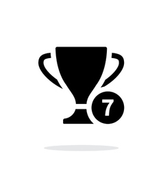 Number of cups icon on white background vector