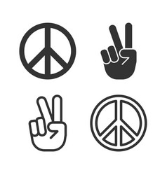 Peace icon and symbol vector