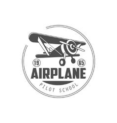 Pilot School Emblem Design vector image