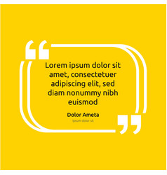 remark quote text box poster template concept vector image