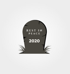Rest in peace 2020 object symbol design vector