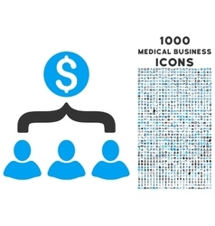 Sales Funnel Icon with 1000 Medical Business Icons vector