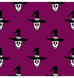 Seamless Pattern Halloween Witch vector image