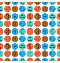 Seamless pattern of zodiac signs for horoscopes vector