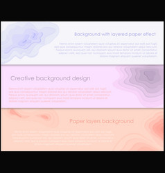 set of horizontal banners with vector image