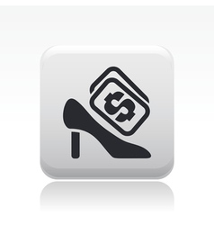 shoe cost icon vector image