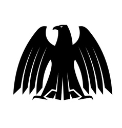 silhouette a proud eagle vector image