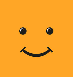 smiley flat style on a yellow background vector image