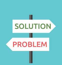 solution and problem signs vector image