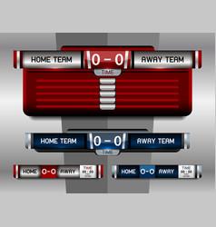 Sport scoreboard template vector