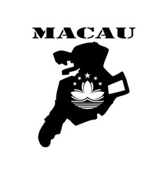 Symbol of macau and map vector