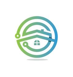 Tech house vector