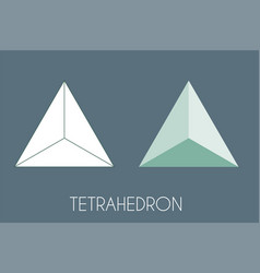 Tetrahedron platonic solid sacred geometry vector