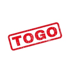 Togo rubber stamp vector