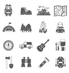 Tourism Icons Black vector