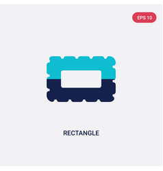 Two color rectangle icon from geometry concept vector