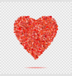 Valentines red heart shape with many dots vector