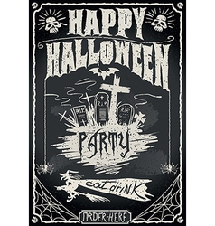 Vintage Blackboard for Halloween Party vector