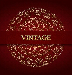 Vintage monogram gold vector