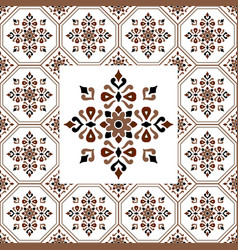 vintage tile pattern design vector image
