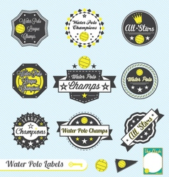 Water Polo League Champions Labels vector image