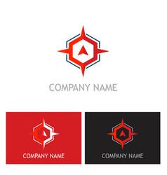 arrow star navigation logo vector image