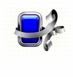 blue button vector image vector image