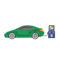 electrocar battery charging colorful vector image vector image