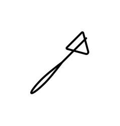 reflex hammer icon black on white background vector image vector image